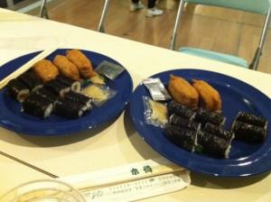 差し入れ いなり寿司、巻き寿司